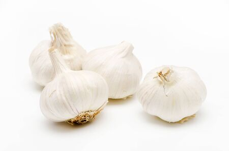 Photo for Fresh garlic on a white background - Royalty Free Image