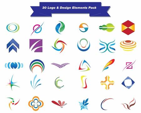 Illustration pour This is a set of vector logo   design elements, suitable for several projects  Full editable - image libre de droit