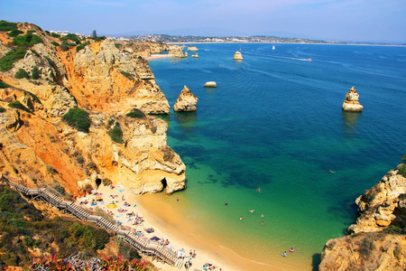 Camilo beach Praia do Camilo in Lagos, Algarve, Portugal
