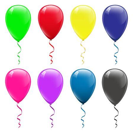 Illustration pour colored balloons on a white background - image libre de droit