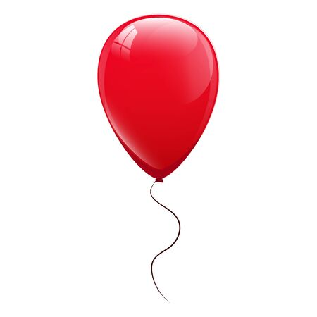 Illustration for Red balloons. Vector illustration - Royalty Free Image