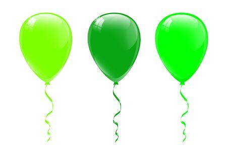 Illustration pour Green balloons, vector illustration. - image libre de droit