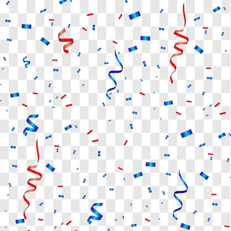 Illustration for Vector confetti. Festive illustration. Party popper isolated on white background - Royalty Free Image