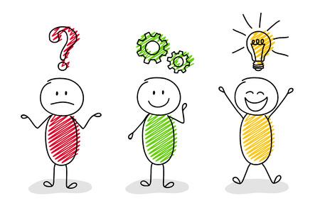 Illustration pour Funny concept of businessmen vector icon. - image libre de droit