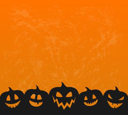 Illustration pour Halloween - concept of background with scary pumpkin lanterns. Vector. - image libre de droit