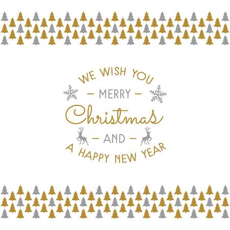 Illustration pour Christmas wishes with decoration. Vector. - image libre de droit