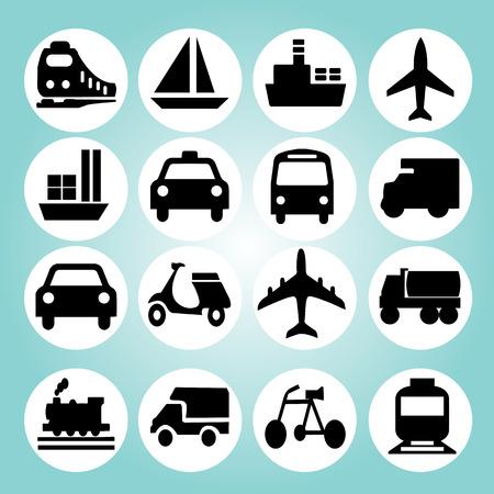 Ilustración de Transport icons.transportation .logistics.logistic icon.vector illustration. - Imagen libre de derechos