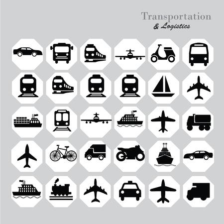 Photo for Transport icons.transportation .logistics.logistic icon.vector illustration. - Royalty Free Image
