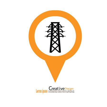 Electricity icon.electricity pole.vector illustration.