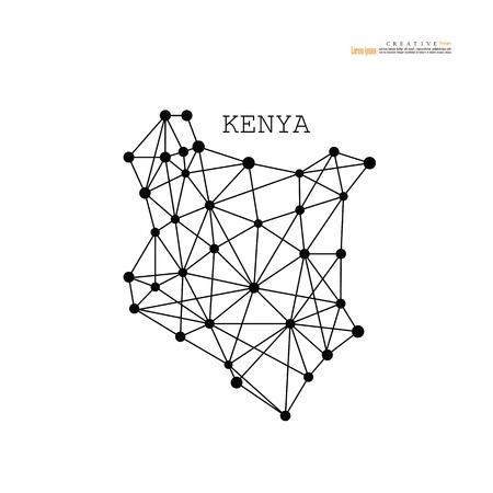 Illustration pour outline map of  Kenya. vector illustration. - image libre de droit