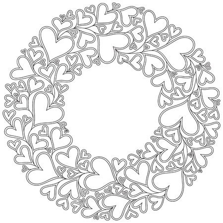Zentangle Heart coloring page | Free Printable Coloring Pages | 450x450