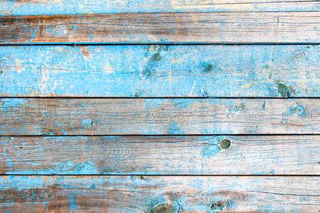 Photo pour Old vintage Wooden texture of blue color - image libre de droit