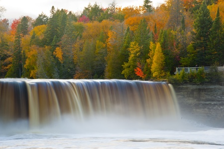 Tahquamenon falls in Fall Michigan