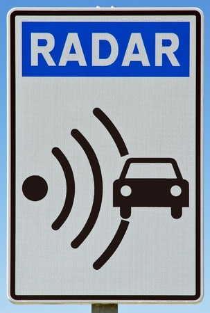 Signal indicator radar signal, found on roads in Spain Europe