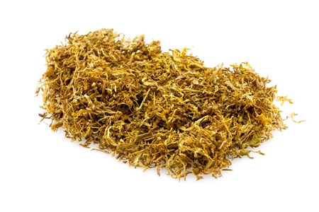 closeup heap of snuff used for rolling cigarettes