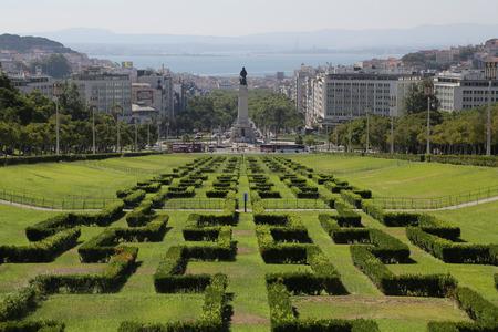 The Eduardo vii park in Lisbon, Portugal