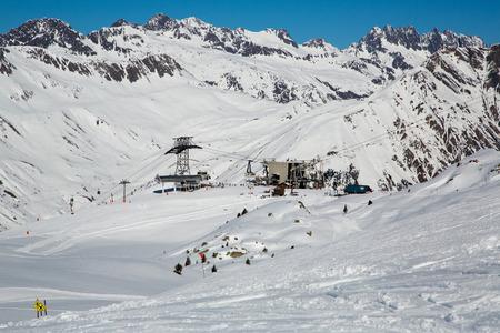 Mountain around the Oz en Oisans Station in the French Alps