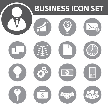 Business icon set. vector illustration