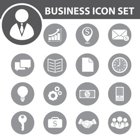Photo pour Business icon set. vector illustration - image libre de droit