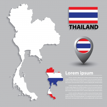 Flag and Map of Thailand. vector illustration: Royalty-free ...