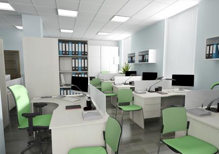 Photo pour Office interior in modern style 3d rendering - image libre de droit