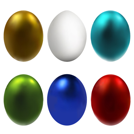 Graphic abstract eggs (symbol of the Easter holiday)-set. Suitable for invitation, flyer, sticker, poster, banner, card, label, cover, web. Vector illustration.