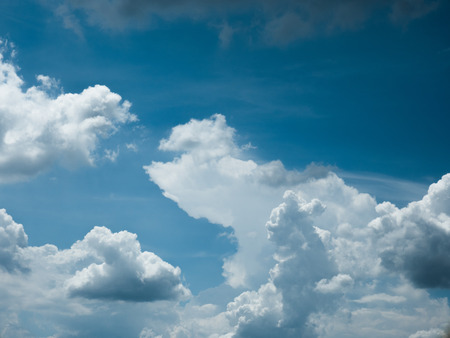Blue sky with amazing clouds background. Shape independent of the Skies, Elements of nature, Beautiful sky with white clouds.