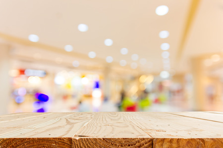 blur department store with bokeh for background