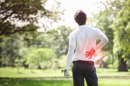 Foto de Sport injury play goft, Muscle injury concept. - Imagen libre de derechos