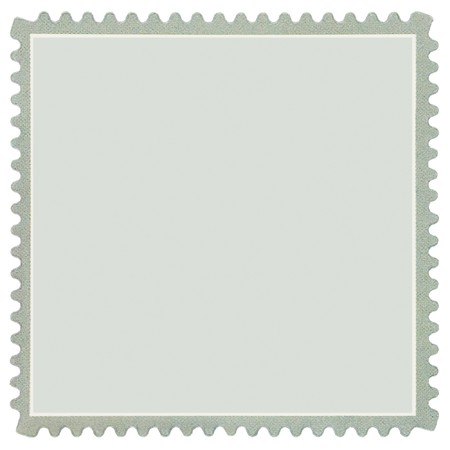 Square Blank Postage Stamp, Light Pale Green Macro, Isolated