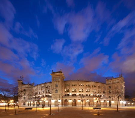 Bullring in Madrid, Las Ventas, situated at Plaza de torros  It is the bigest bullring in Spain