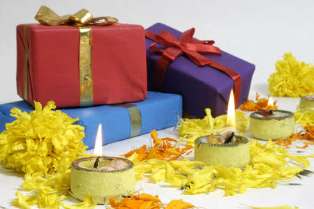 Diwali lamps and Gifts, Indian Traditional Festival