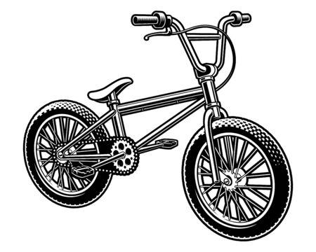 Photo pour Vector illustration of a bmx bicycle on white background - image libre de droit