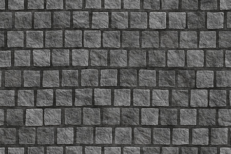 Photo for Granite cobblestoned pavement background  - Royalty Free Image