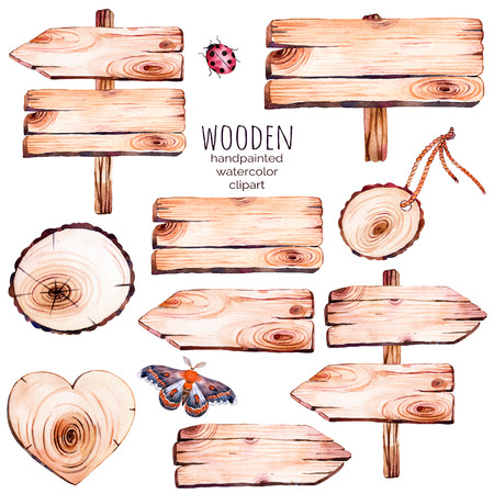 This handpainted watercolor collection of nine wood slices clipart.Wood point, board, wooden heart, butterfly in watercolor.Can be used for frames, invitations, lettering, wedding, greeting cards and more.