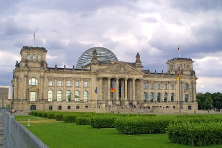 The Reichstag building in Berlin, German parliament (Bundestag)