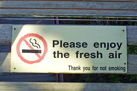 Creative No Smoking sign (Enjoy the fresh air)