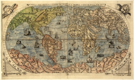 Ancient map of world