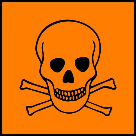 image of symbol of hazard presents on dangerous products