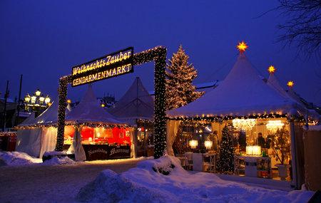 BERLIN, GERMANY - DECEMBER 28, 2010: Christmas market at Gendarmenmarkt square on December 28, 2010 in Berlin, Germany