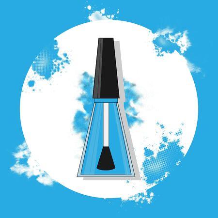 nail polish flat illustration. Modern vector card concept for design
