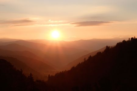Sunshine over the Smoky Mountains Nat. Park, USA
