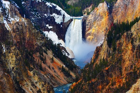 Yellowstone's Lower Falls as seen from Artist Point.