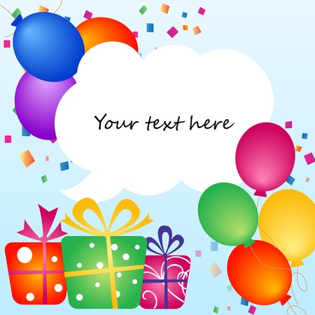 colorful balloons with place for your text