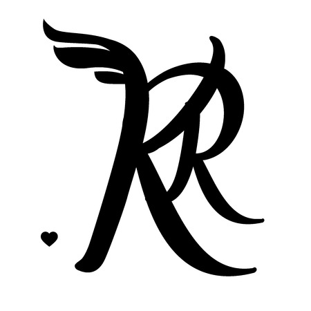 KR emblem, Ready-made branding idea, easily editable items Vector illustration