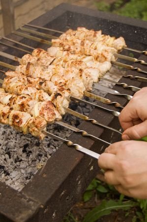 Delicious kabobs on a char-grill