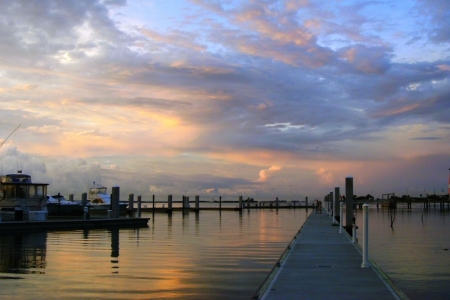 Clearwater Beach Marina at Sunset