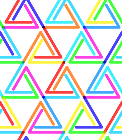 Bright Triangular Stripe Pattern