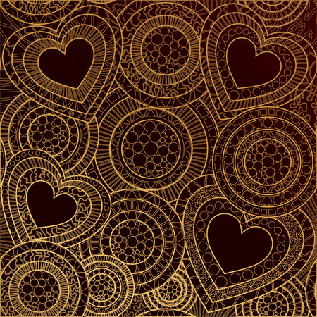 Photo pour Valentines day card, ornate background. Abstract heart pattern. Romantic shapes background. Valentine day textile, wrapping paper backdrop - image libre de droit