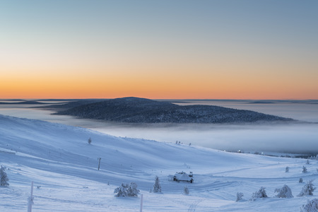 Sunset in Levi, Lapland